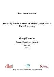 SCSP Focus Group - Transport Scotland