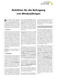 Richtlinie für die Befragung von Minderjährigen - Berufsverband ...