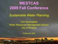 Sustainable Water Planning - WESTCAS