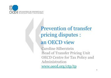 an OECD view - Foundation for International Taxation