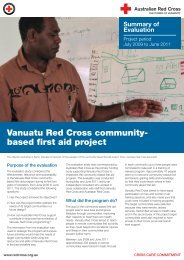 Vanuatu Red Cross community-based first aid project, summary and ...
