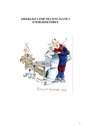 sjekklista for tillitsvalgte i energisektoren - El og it forbundet