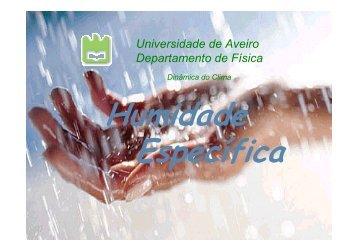 Humidade - Torre:Tempo e Clima - Universidade de Aveiro