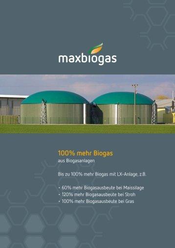 100% mehr Biogas - Maxbiogas