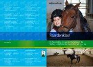De paardenklas: één van de themaklassen die ... - Wellantcollege