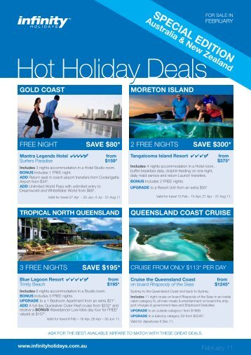 y Hot Holiday Deals - Flight Centre Limited