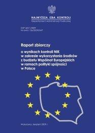 NIK o wykorzystaniu przez Polskę środków z UE - Najwyższa Izba ...