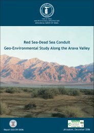 Red Sea-Dead Sea Conduit Geo-Environmental Study Along the ...