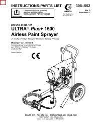ULTRA Plus+ 1500 Airless Paint Sprayer - Graco Inc.