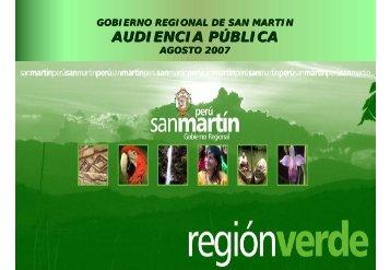 I AUDIENCIA PUBLICA 2007 - Gobierno Regional de San Martín