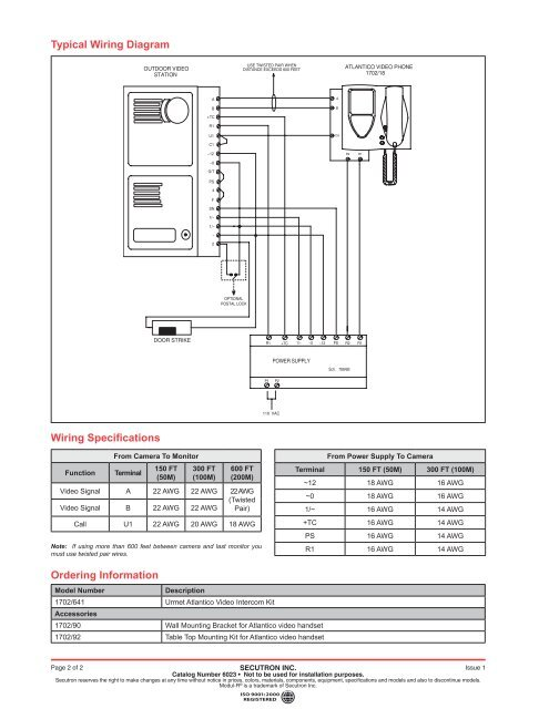 Typical Wiring Diagram Wi on door bell diagram, intercom cable, sample block diagram, cat5e diagram, security diagram, intercom schematic diagram, intercom circuit diagram, intercom connection diagram,