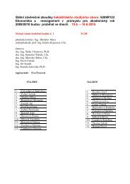 Státní závěrečné zkoušky bakalářského studijního oboru: 6208R123 ...