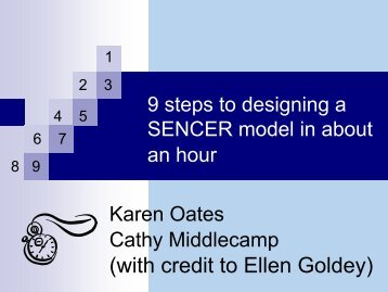 Nine Steps to Designing a SENCER Model in