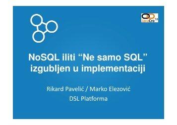 Not only SQL - HrOUG