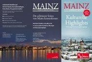 Kulturelle Highlights - Touristik Centrale Mainz