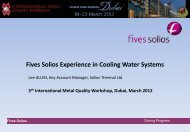 Fives Solios Experience in Cooling Water Systems