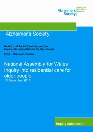 Alzheimer's Society - Senedd.assemblywales.org - National ...