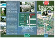 Blackheath Motor Inn Brochure (12.2Mb) - Blue Mountains Australia