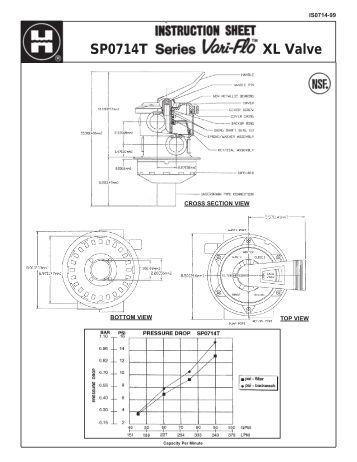 Hayward SP0710 Vari-Flo™ Multiport Valve