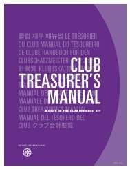 Club Treasurer's Manual - Rotary International