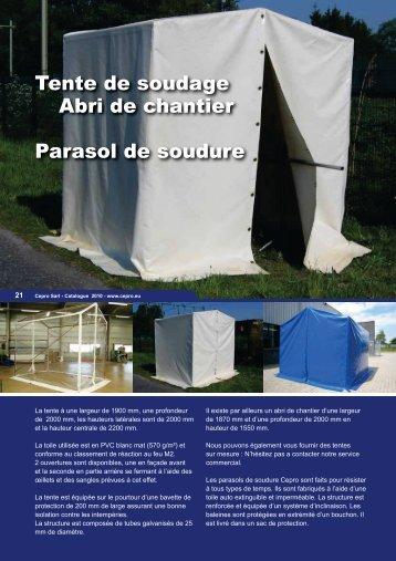 Tente de soudage Abri de chantier Parasol de soudure