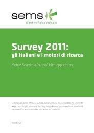 Survey 2011: gli Italiani ei motori di ricerca - Sems