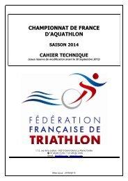 CHAMPIONNAT DE FRANCE D'AQUATHLON