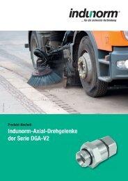 Produkt-Neuheit Indunorm-Axial-Drehgelenke der Serie DGA-V2