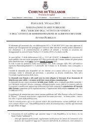 Avviso pubblico - Comune di Villasor