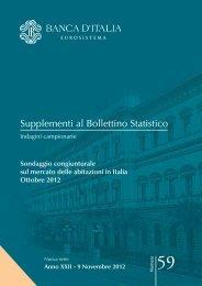Sondaggio congiunturale sul mercato delle abitazioni in Italia ...