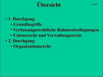 2. Durchgang - Institut für Staats- und Verwaltungsrecht