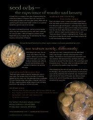 See 2 page Seed Orbs brochure, pdf file - SeedShaman