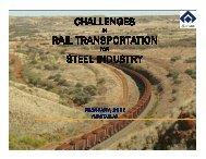 Challenges in Rail Transportation for Steel Industry - IIM