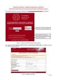 Domanda di ammissione al concorso per l'ammissione al dottorato ...