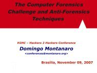 The Computer Forensics Challenge and Anti-Forensics ... - H2HC