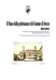 Piano della Performance 2012 - Comune di Arezzo