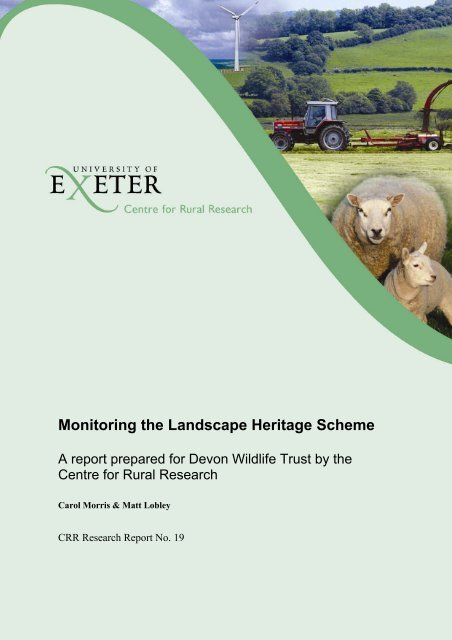Monitoring the Landscape Heritage Scheme - College of Social ...