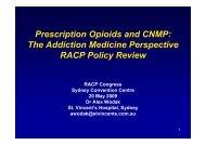Prescription Opioids and CNMP - Tour Hosts Pty Limited