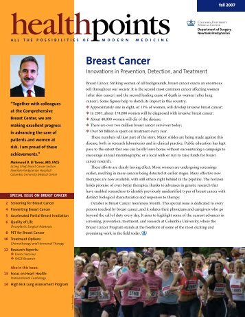 Breast Cancer - Columbia Presbyterian Department of Surgery
