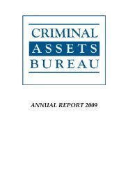 Criminal Assets Bureau - Annual Report 2009 - of An Garda Síochána