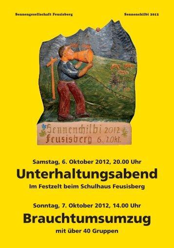 Vorstand der Sennengesellschaft Feusisberg - Sennenchilbi