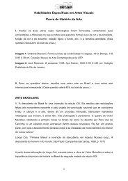 Habilidades Específicas em Artes Visuais Prova de ... - Unicamp