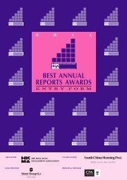 2011 hkma best annual reports awards - Hong Kong Management ...
