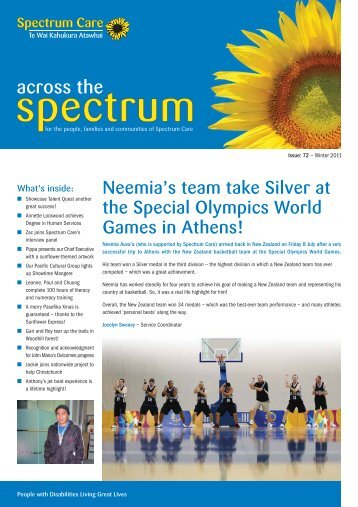 Across the Spectrum Newsletter - Issue 72 Winter ... - Spectrum Care