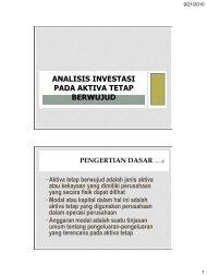 analisis investasi pada aktiva tetap berwujud pengertian dasar ……1