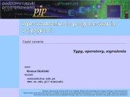 Wprowadzenie do programowania w języku C — typy, operatory ...