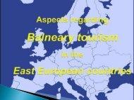 Aspects regarding balneary tourism development in ... - VectWeb SM