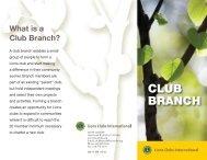CLUB BRANCH - Lions Clubs International