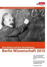 Berlin Wissenschaft 2015 Eine Marke und ihre Vermarktung