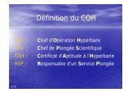 chef de plongée scientifique - Jacquet Stephan